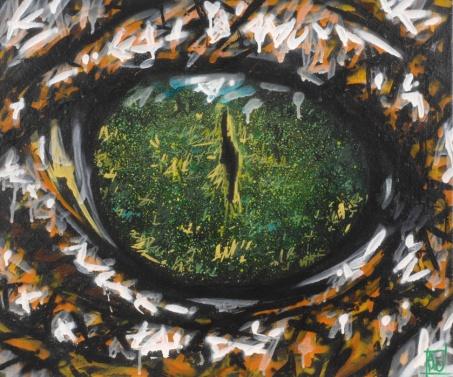 Oeil de crocodile - A-Mo